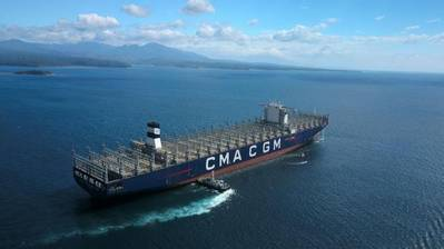 The 20,600 TEU CMA CGM Antoine De Saint Exupery (Photo: CMA CGM)