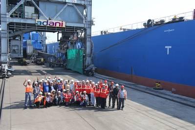 Adani Kandla Bulk Terminal completes 3.5 MT of cargo volume in first financial year. Photo Adani