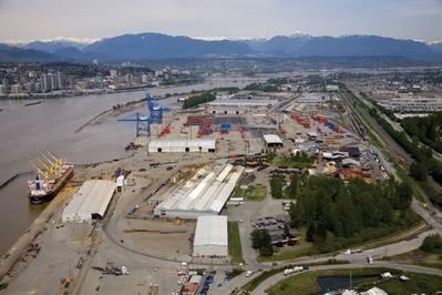 Aerial View Fraser Surrey Docks: Photo credit FSD