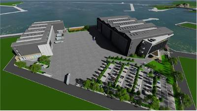 Aerial rendering of LT Shipbuilding's Suao Port campus after completion. Image: Taiwan International Ports Corporation