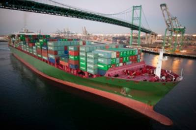 Port of Los Angeles container ship: Image courtesy of the Port