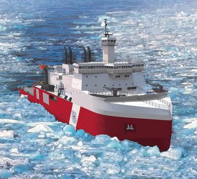 Artist rendering of the Halter Marine Polar Security Cutter design (image courtesy of Halter Marine / Technology Associates, Inc.