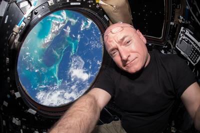 NASA astronaut Scott Kelly inside the cupola of the International Space Station (Photo: NASA)