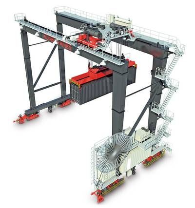 Automated Stacking Crane: Image credit Konecranes