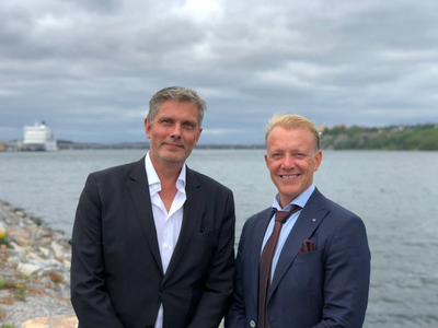 Bjorn Fischer (left),  Managing Director of SwedAgency AB with Johan Ehn (right), Managing Director, GAC Sweden (Photo: GAC Sweden)