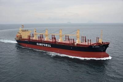 Campbell Shipping's bulker CS Jenna (Photo: Inmarsat)