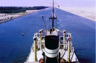 Suez Canal Transit: Photo credit Backwell