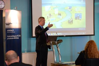 Captain Paul Hailwood, UKHO ECDIS Seminar (Photo: UKHO)
