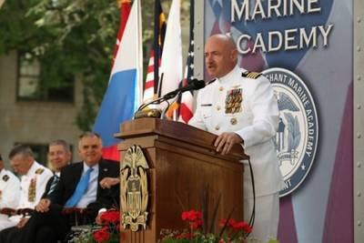 Captain Mark Kelly Addresses USMMA: Photo credit USMMA