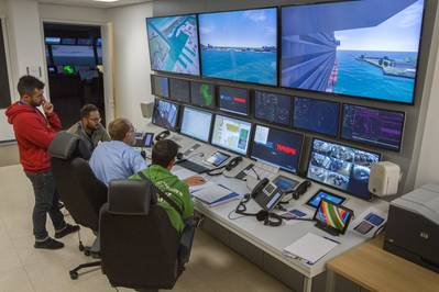 Carnival's hi-tech control room. CREDIT Carnival Corp.
