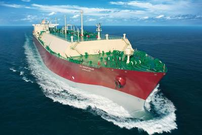 An LNG carrier at sea. Fine Image (QGTC)