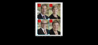 Clockwise from top Craig Huntbatch,  Marije Hulshof, Anke Mastenbroek and Anton van der Sanden