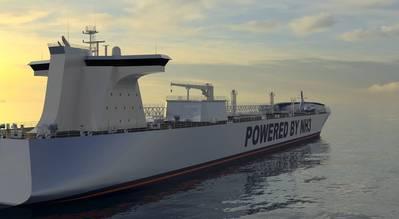 Concept Design Ammonia Carrier. Image: C-Job Naval Architects