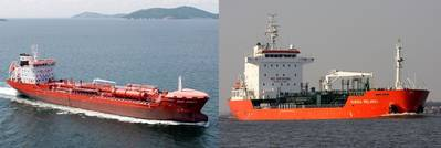 The two consfiscated tankships: Photo credit Stena Oil