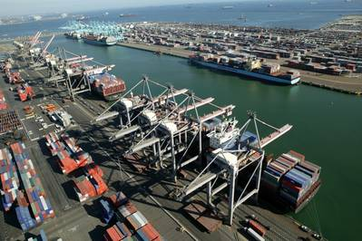 Container Quays: Photo courtesy of Port of Los Angeles