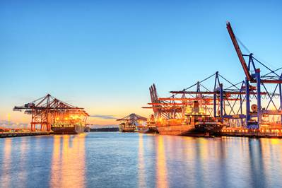 A Hong Kong Container Terminal works cargo. CREDIT: AdobeStock / © Marco