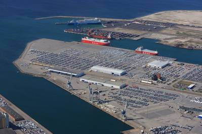 Copenhagen Malmö Port is Scandinavia's largest port terminal for new cars. (Photo: Perry Nordeng, Copenhagen Malmö Port)