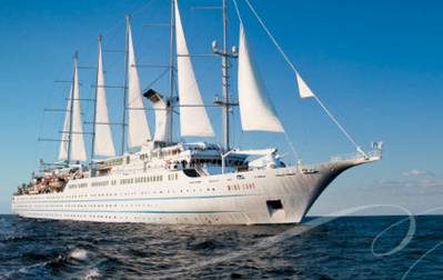 Cruise Ship 'Wind Surge': Photo credit Windstar Cruises
