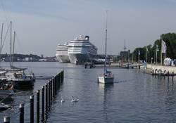 Two cruise vessels at Ostseekai. (Photo courtesy: Port of Kiel)