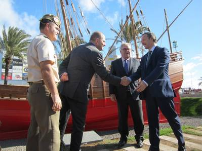 Delivery ceremony and reopening of the Caravel La Niña III,