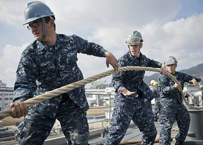Departure Stations USS Tortuga: Photo credit USN