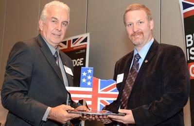 Derek Blackwood (left), President BABC Houston, with Garry Kennie, President Houlder Americas