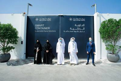 Abu Dhabi Ports launches Smart Container Initiative, eco-friendly mobile data centers housed in a safe and optimized environment.