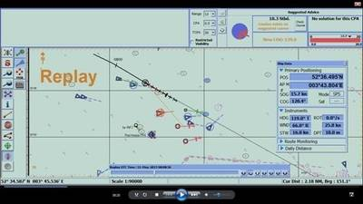 ECDIS Dislay with Decision Support Tools: Image courtesy of Totem Plus ECDIS
