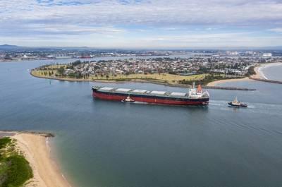 Coal Ship entering Newcastle Port  - Credit; jeayesy/AdobeStock