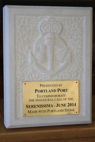Example Plaque to be Presented to the Serenissima