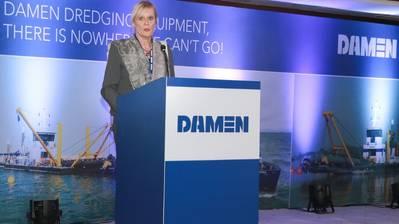 Her Excellency Leoni Cuelenaere, the Dutch Ambassador to Bangladesh (Photo: Damen)