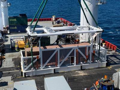 The first container loaded onto the MV Pride contains furniture products.(Photot: AMSA)