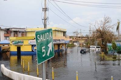 Flooded area in Puerto Rico in the aftermath of Hurricane Maria (Photo by Jose Ahiram Diaz-Ramos / Puerto Rico National Guard)