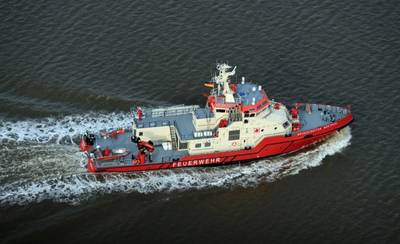 "Following the delivery of the ""Branddirektor Westphal"" the Hamburg Port Authority (HPA) has ordered two more fire-fighting vessels (Photo Credit: Fassmer)"