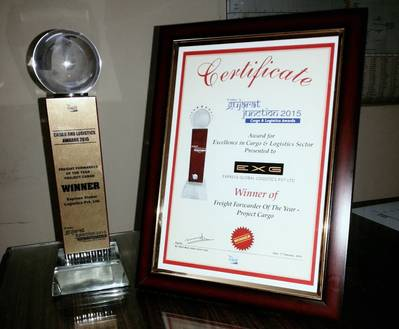 Freight Forwarder of the Year - Project Cargo Award to Express Global Logistics