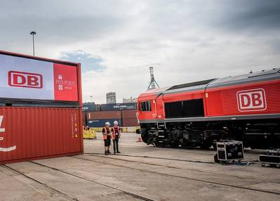 New rail freight service launched at Port of Liverpool. (Photo: Peel Ports)