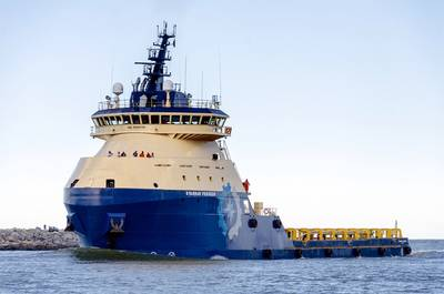 The next generation of platform supply vessels, pictured here, are equipped with GE Power Conversion's dynamic positioning and vessel automation technologies.