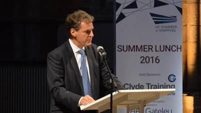 Dr Grahaeme Henderson. Photo:  UK Chamber of Shipping 2016