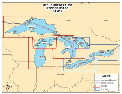 Great Lakes Revised ENC Usage: Image credit NOAA