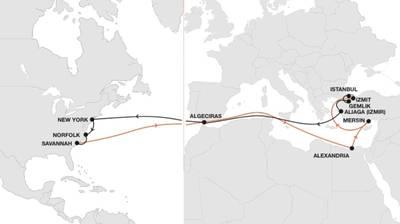 Map: Hapag-Lloyd