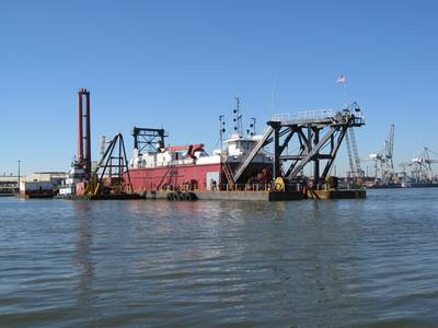 Houston Ship Channel Dredging: Photo courtesy of AAPA