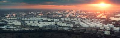 File Image: an aerial view of the port of Houston petrochemical refining complex. CREDIT: AdobeStock / © Irina K