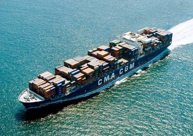 A file image of a CMA CGM boxship (CREDIT: © CMA CGM)
