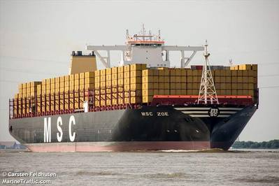 File Image: MSC ZOE / © MarineTraffic.com