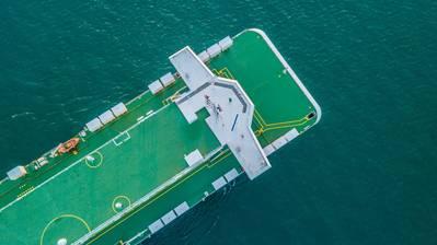 File image of a modern RO/RO vessel underway. CREDIT: AdobeStock / © Kalyakan