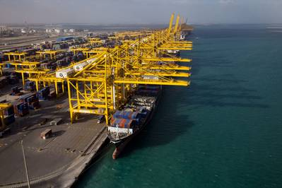 File image of a typical DP World terminal operation. CREDIT: DP World