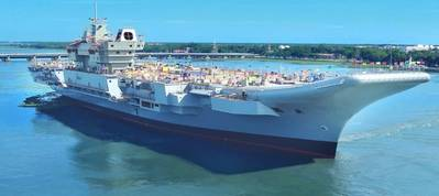 India's first Indigenous Aircraft Carrier INS Vikrant built in Cochin Shipyard. Photo: Cochin Shipyard Limited