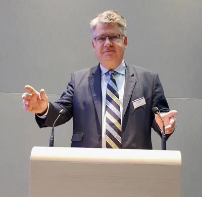 InterManager President Björn Jebsen speaking at the InterManager AGM. (Photo: InterManager)