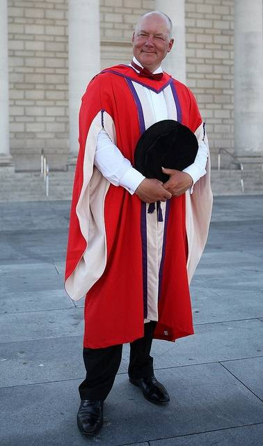 InterManager Secretary-General, Captain Kuba Szymanski, receives his honorary doctorate from Solent University. (Photo: InterManager)