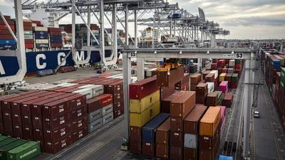 Intermodal operations in the port of Savannah, GA (CREDIT: GPA / Stephen Morton)